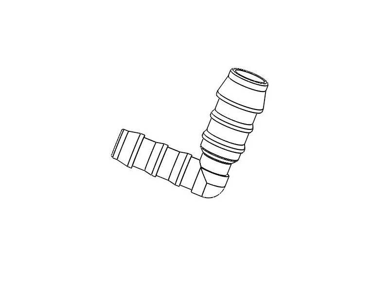 Schlauchverbinder L 8 auf 12mm
