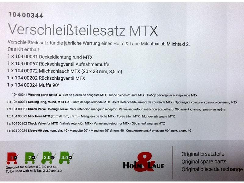 Verschleißteileset MTX